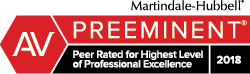 Logo: Martindale-Hubbell Peer Review Ratings 2018