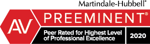Logo: Preeminent AV: Peer Rated for Highest Level of Professional Excellence