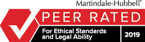 Martindale-Hubbell, Peer Rated, For Ethical Standards and Legal Ability